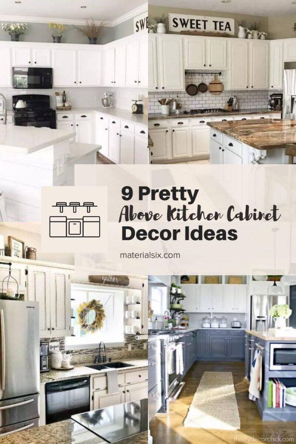 9 Pretty Above Kitchen Cabinet Decor Ideas
