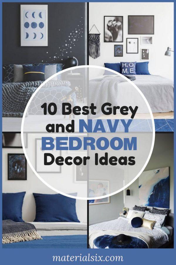 10 Best Grey and Navy Bedroom Ideas