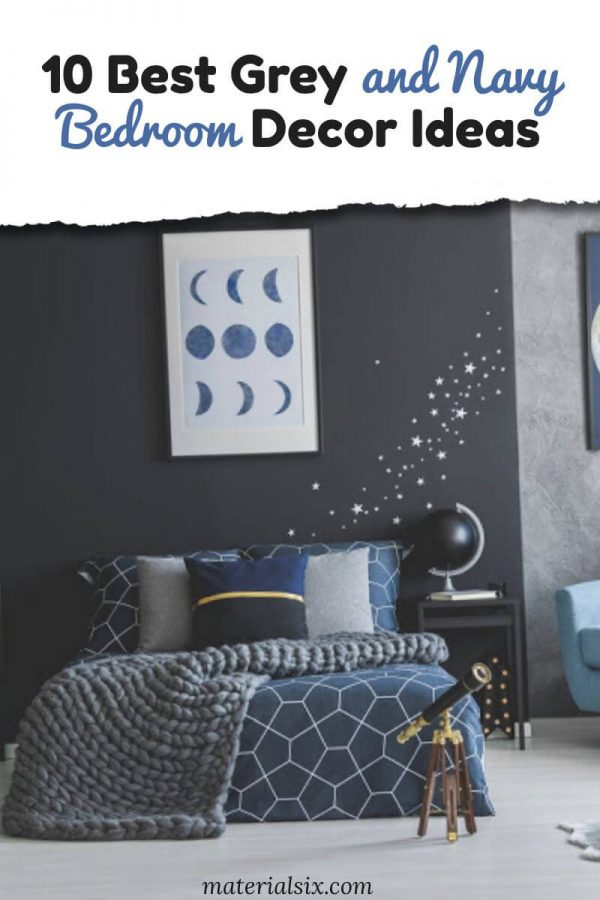 10 Best Grey and Navy Bedroom Ideas