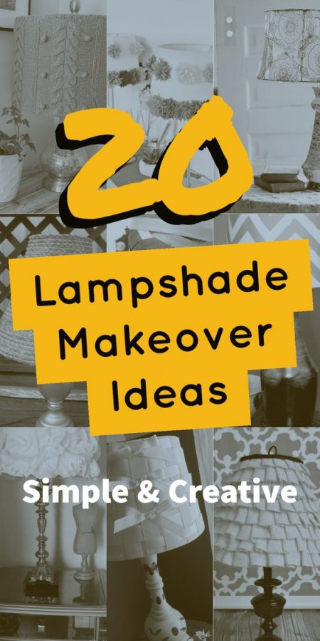 20 Lamp shade makeover ideas