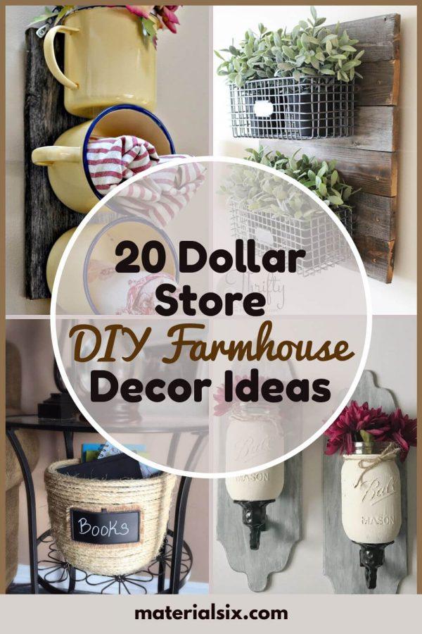 Dollar store DIY farmhouse decor ideas