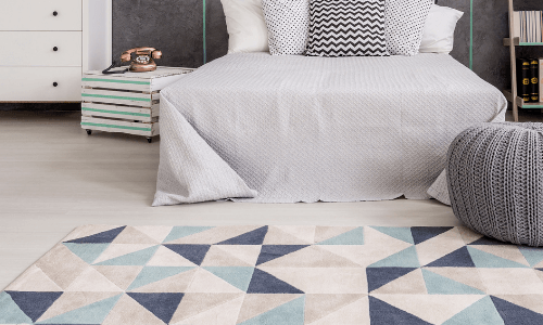 Small Carpet or Rug - Bedroom Makeover Ideas on A Budget
