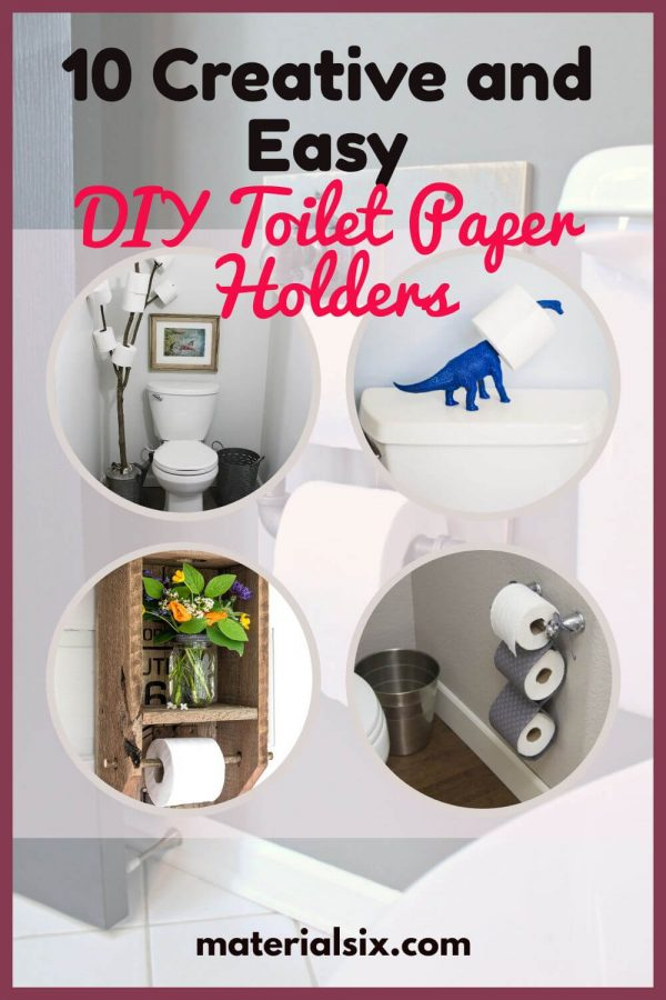 Creative DIY toilet paper holders