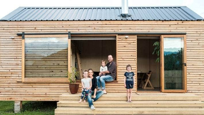 Family of five love their tiny house