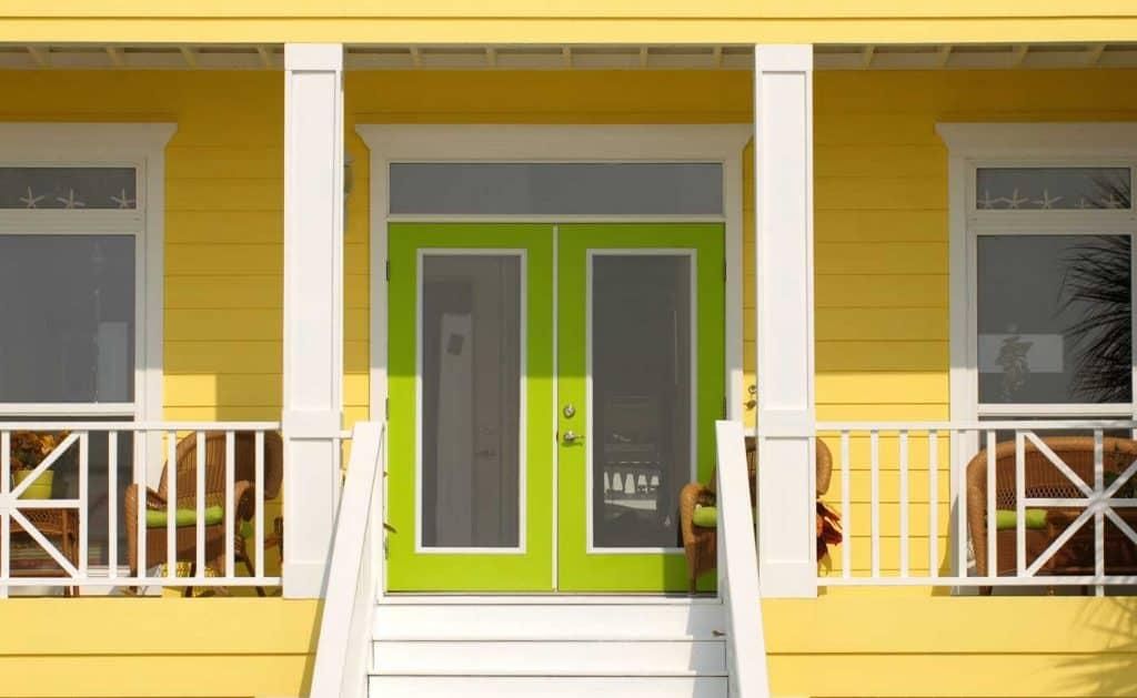 Fresh Look with Lemon & Lime Front Door Color