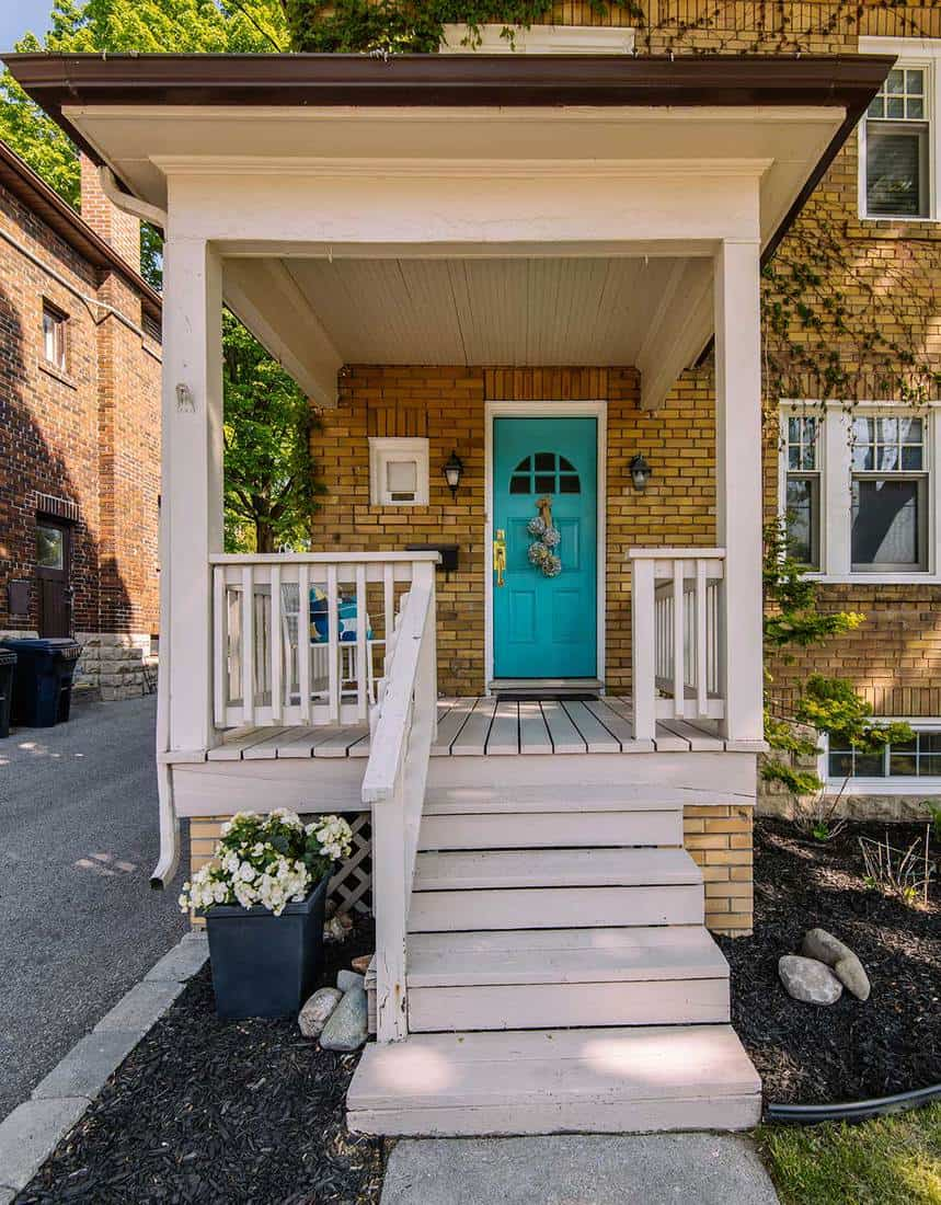 Wooden front Porch