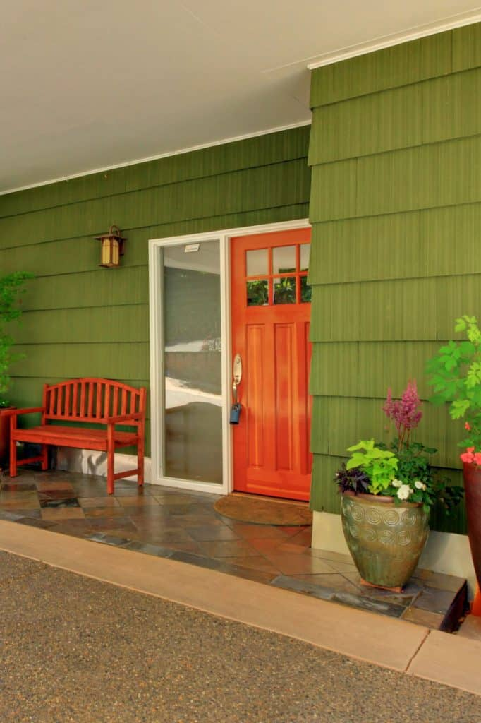 Cherry Red - Front Door Color for Green House