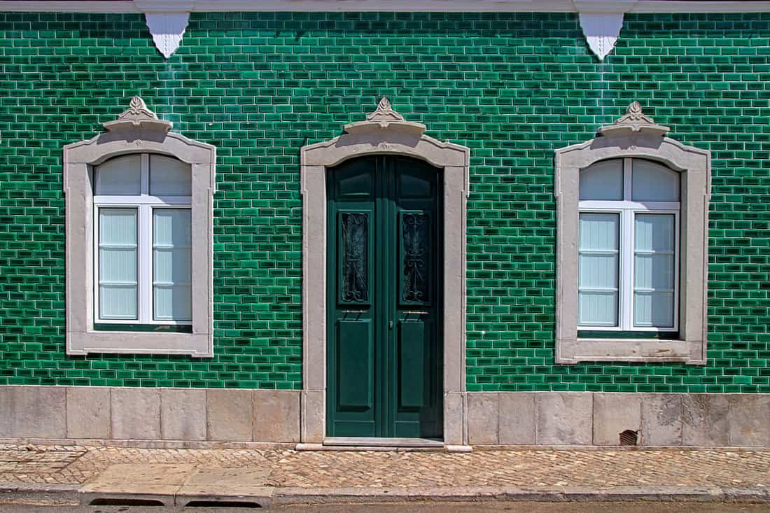 Dark Green Front Door Color for Green House