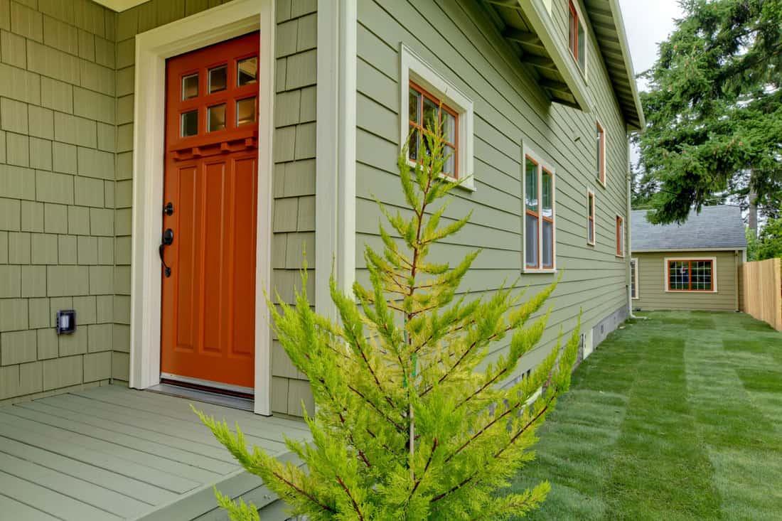 Red Brick Front Door Color