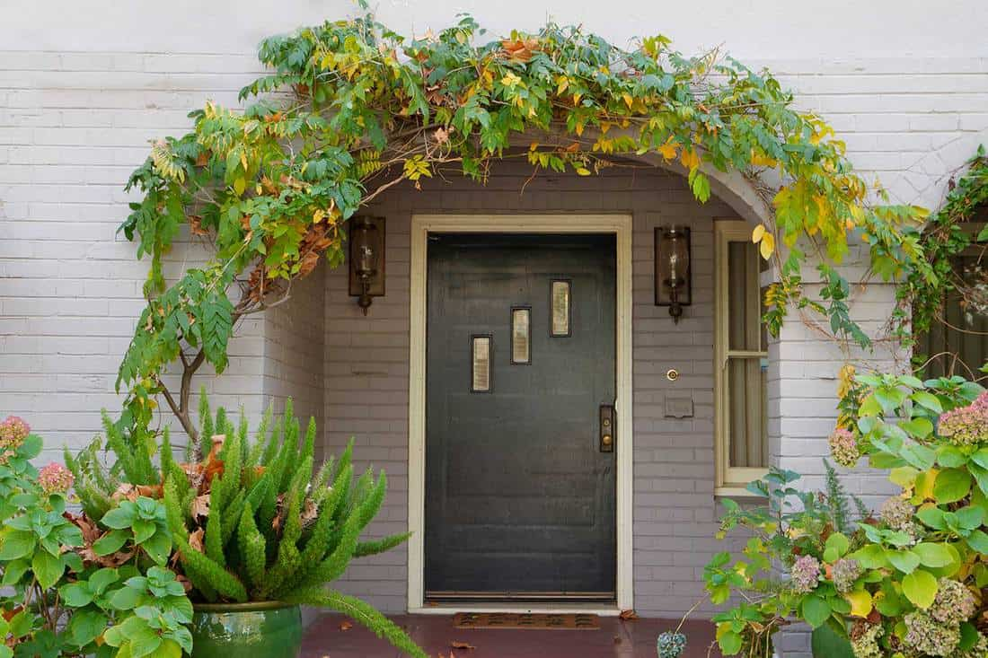 Front Porch with Foliage Arch