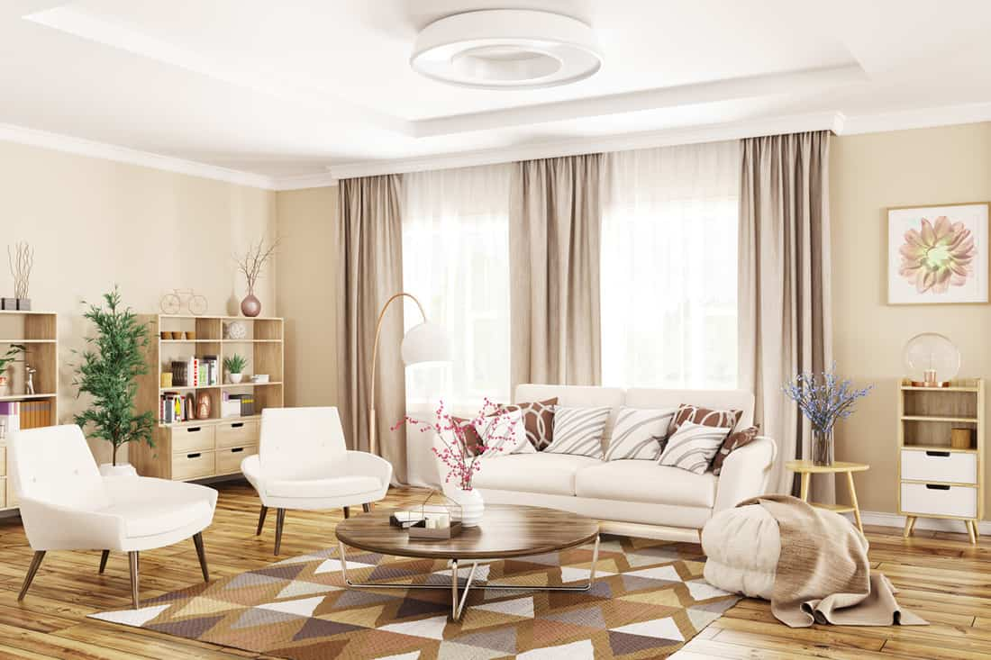 curtain color for beige walls
