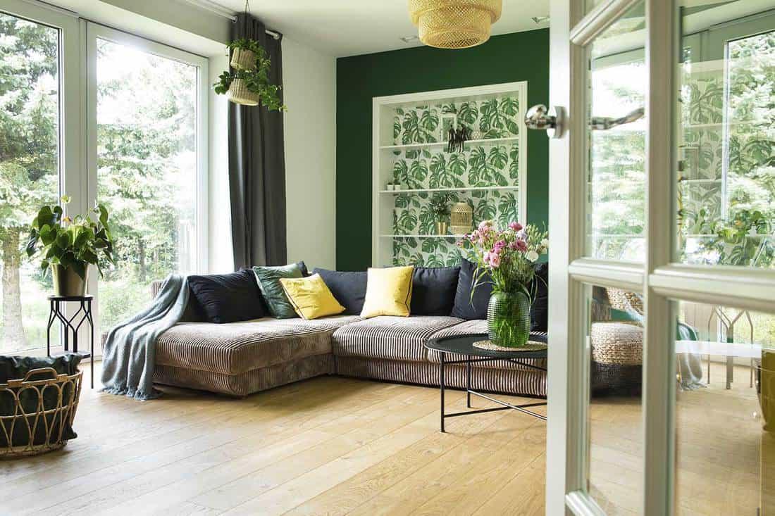 Dark Green Hunter Curtain