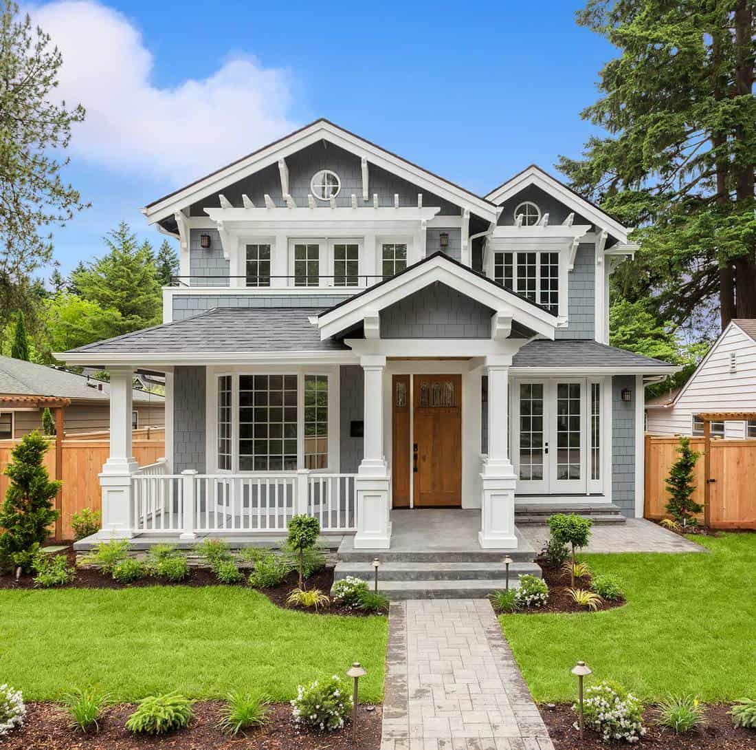 Mowed Lawn Porch