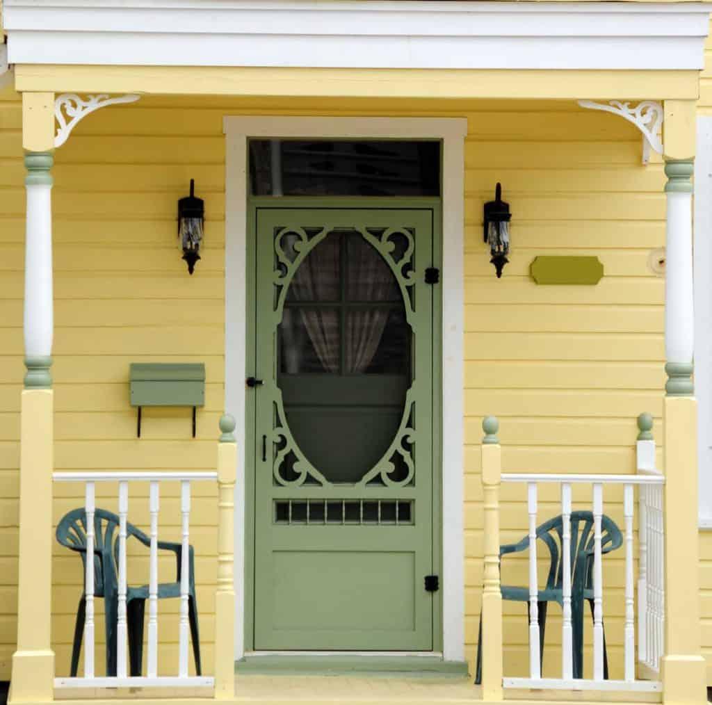 Sage Green Front Door
