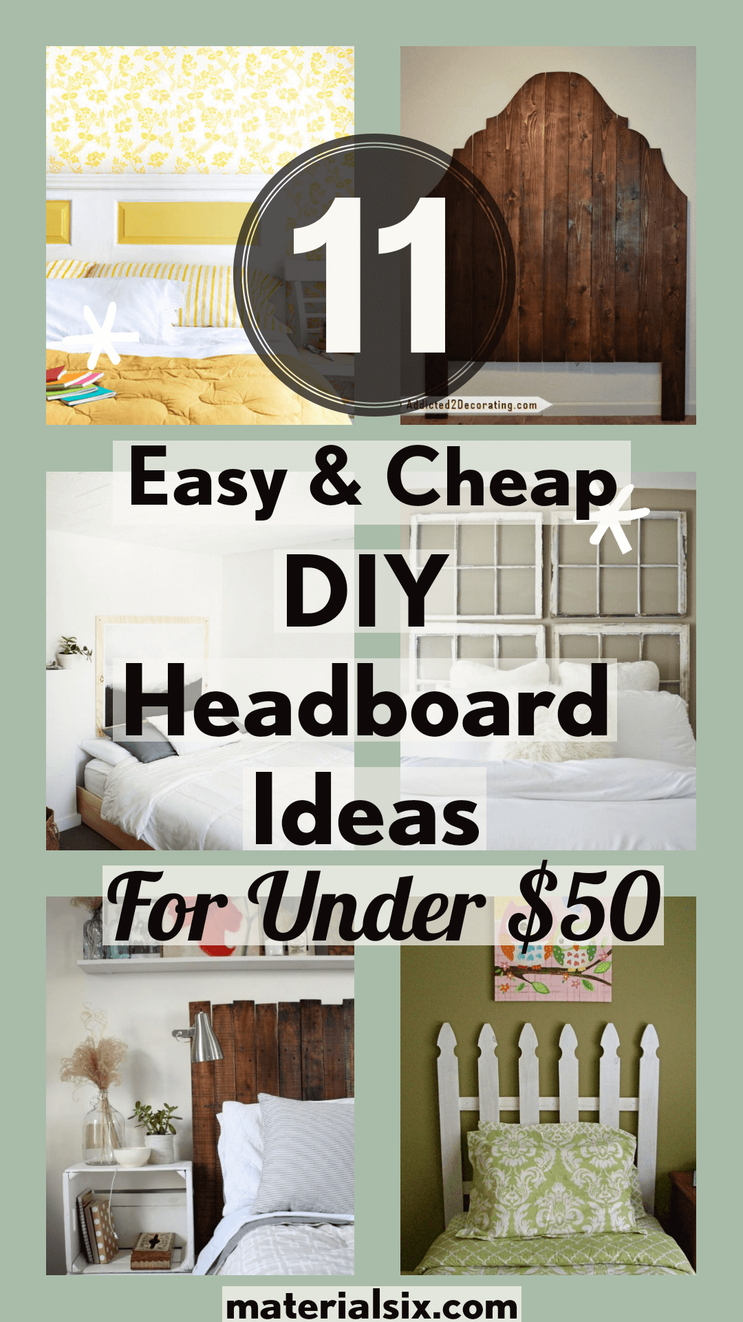 11 Easy & Cheap DIY headboard Ideas for Under $50