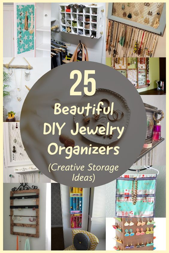 25 Beautiful DIY Jewelry Organizers