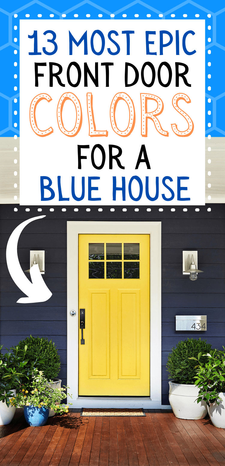 front door color ideas for blue house