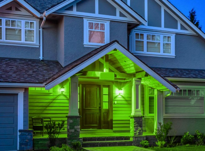 The meaning of a Green Porch Light