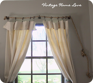 Rope Curtain Rod! AND DIY Curtains!