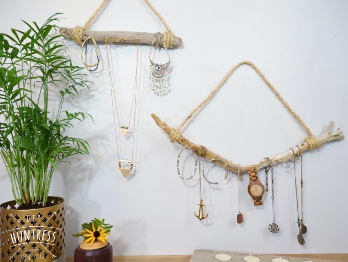 DIY Driftwood Necklace Holder