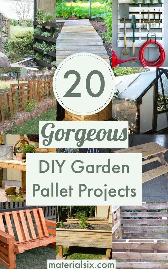 20 Gorgeous DIY Garden Pallet Projects