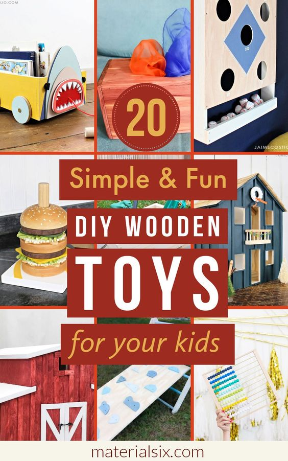 20 Simple & Fun DIY Wooden Toys for your kids