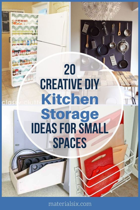 20 Creative DIY Kitchen Storage Ideas for Small Spaces