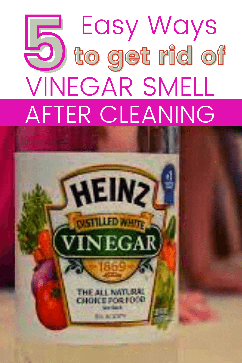 how to get rid of vinegar smell after cleaning