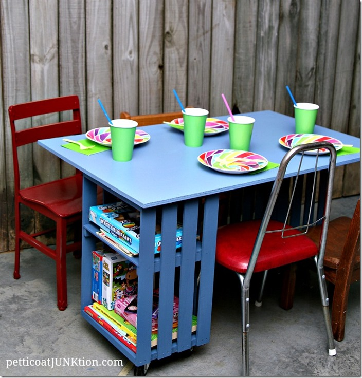 Kids Crate Table Workstation