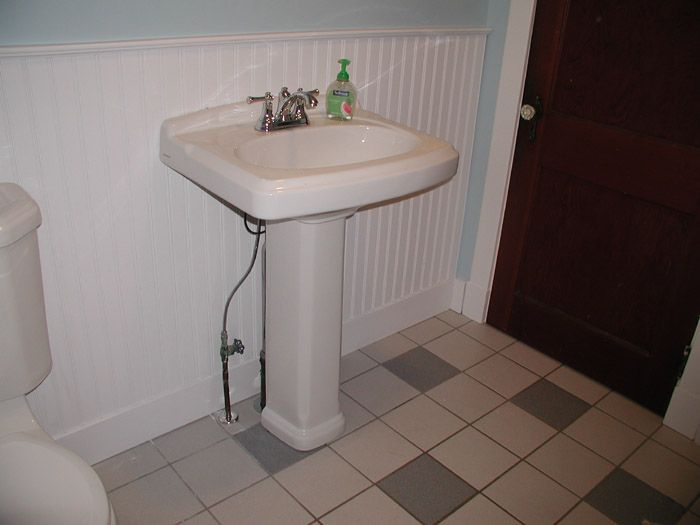 How to Install a Pedestal Sink with Floor Plumbing