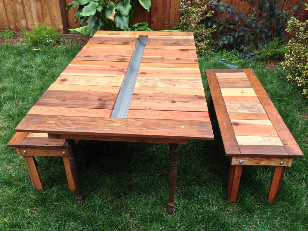 Picnic Table with Built-In Cooler/Planter