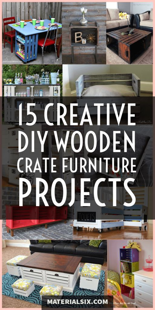 DIY wooden crate furniture projects