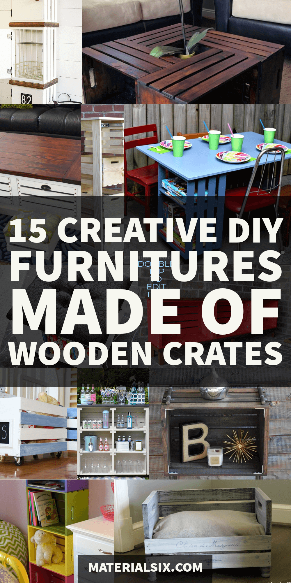 15 Creative DIY Wooden Crate Furniture Projects