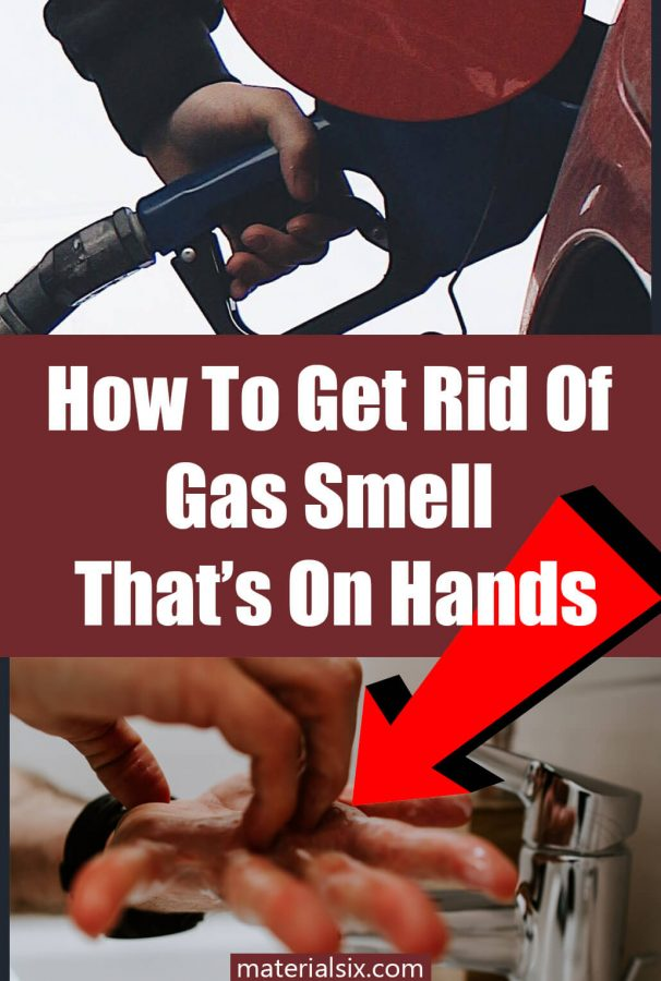 how to get rid of gas smell on hands