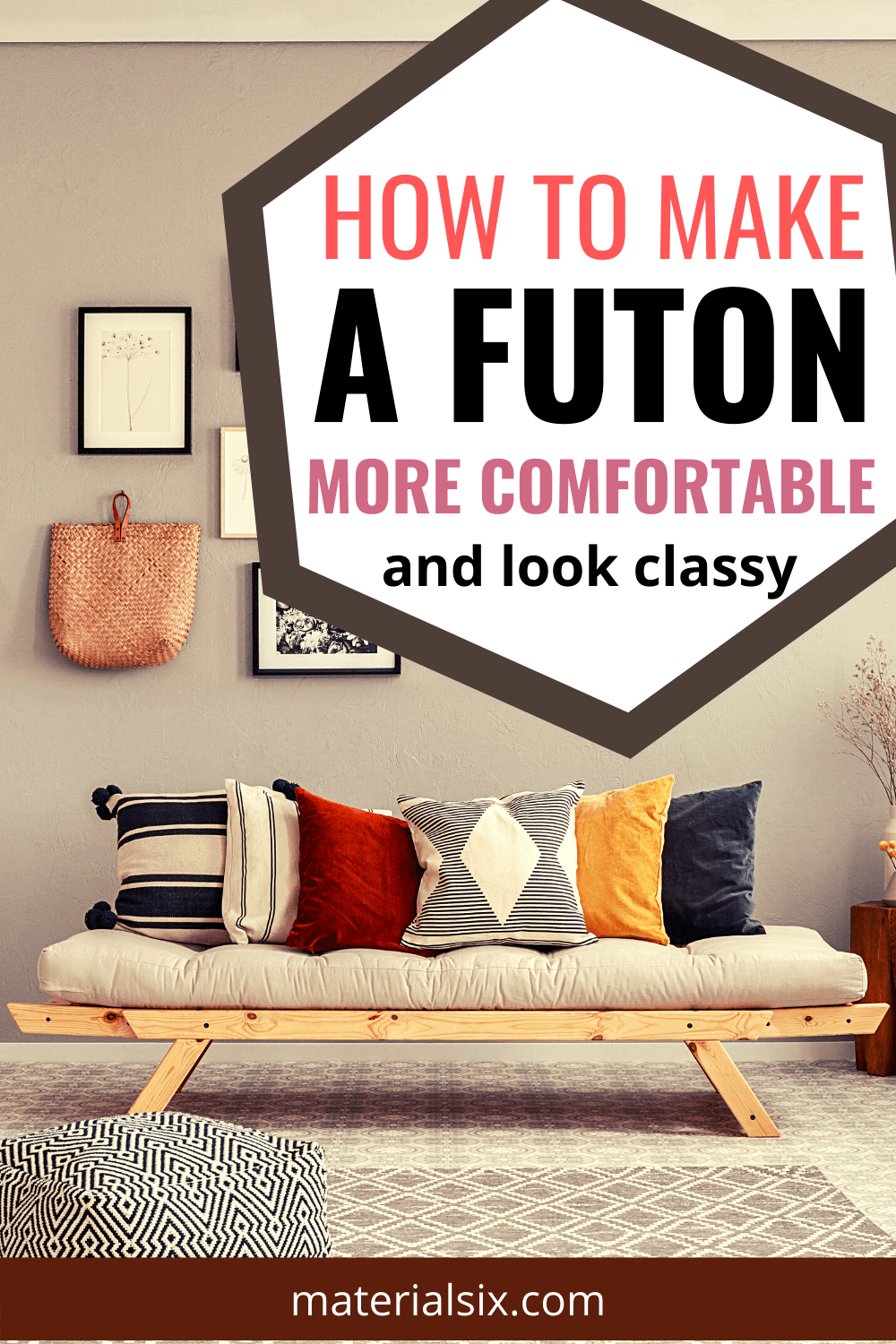 how to make a futon more comfortable and look classy