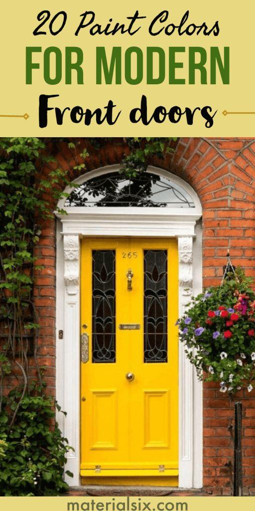 20 Front Door Color Ideas