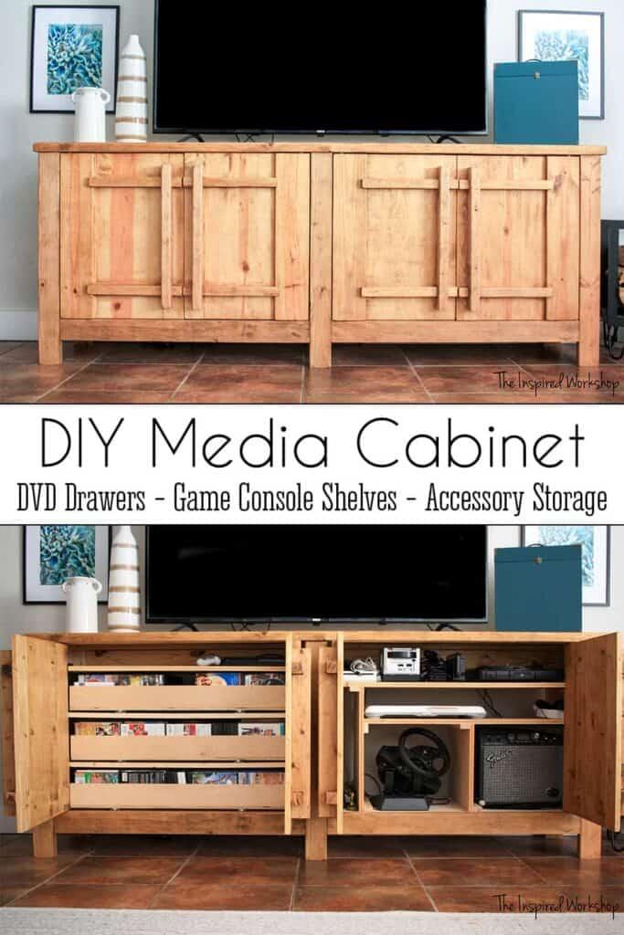 Media Cabinet - DIY TV Stands