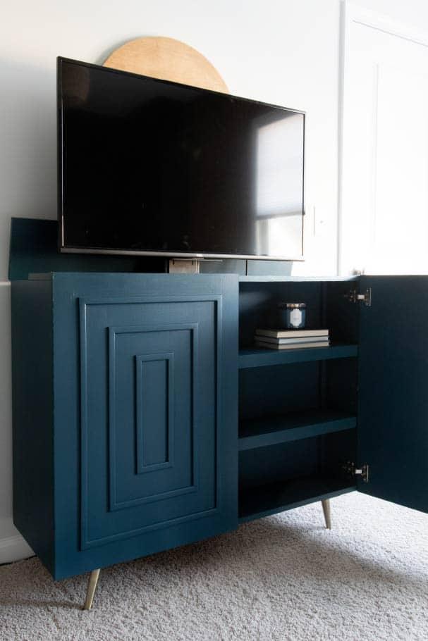DIY Credenza with Hidden TV Lift