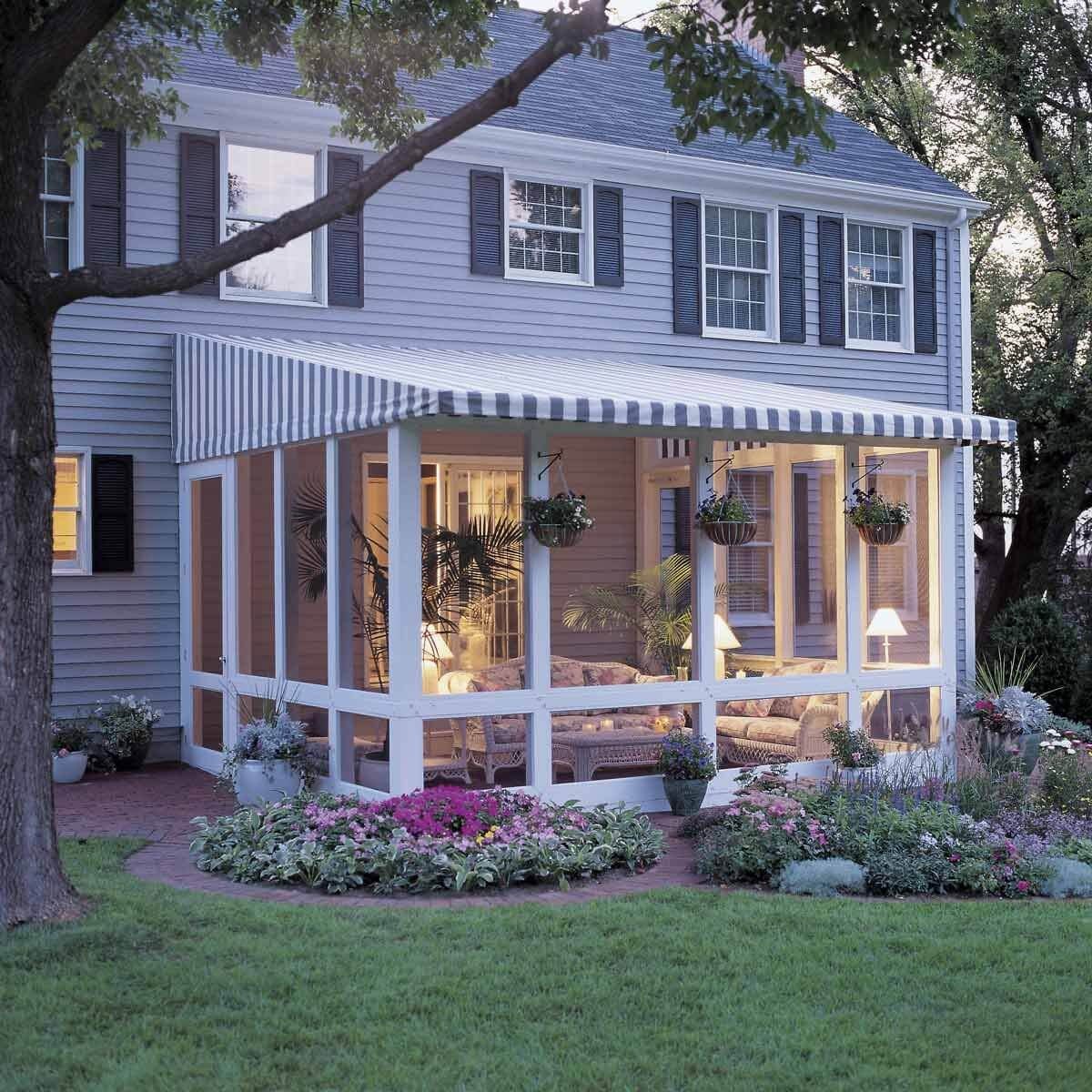 How to enclose a porch cheaply