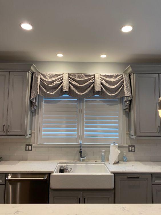 Valance Kitchen Curtain - Types of kitchen curtains