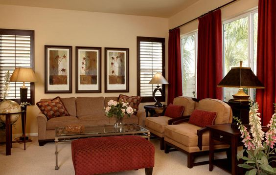 What Color Curtains Go With Brown Sofa