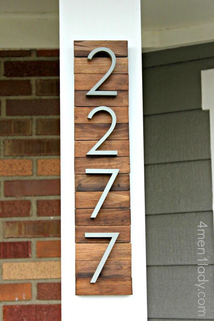 Industrial Wooden House Numbers - repurposed wood ideas