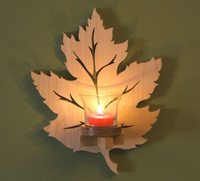 Wooden Leaf Sconces-leaf-sconce-LEAD - dremel craft ideas