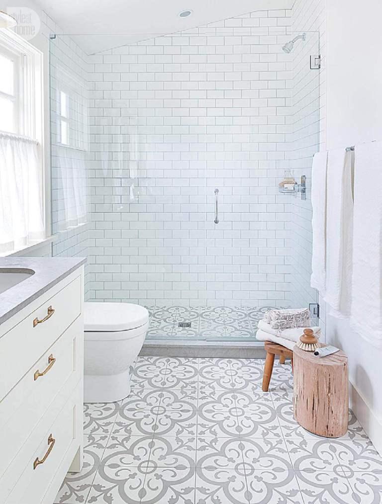 All White Shower Tile Ideas