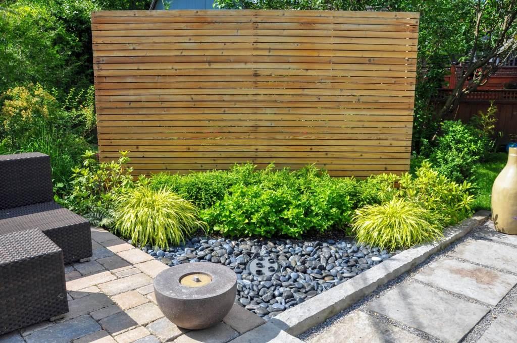 Wood Panel in Garden