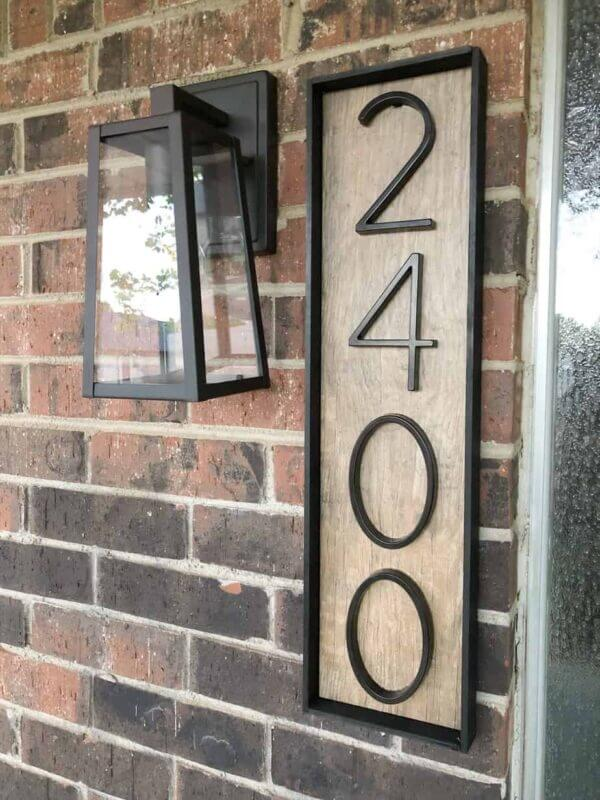 Framed Home Numbers
