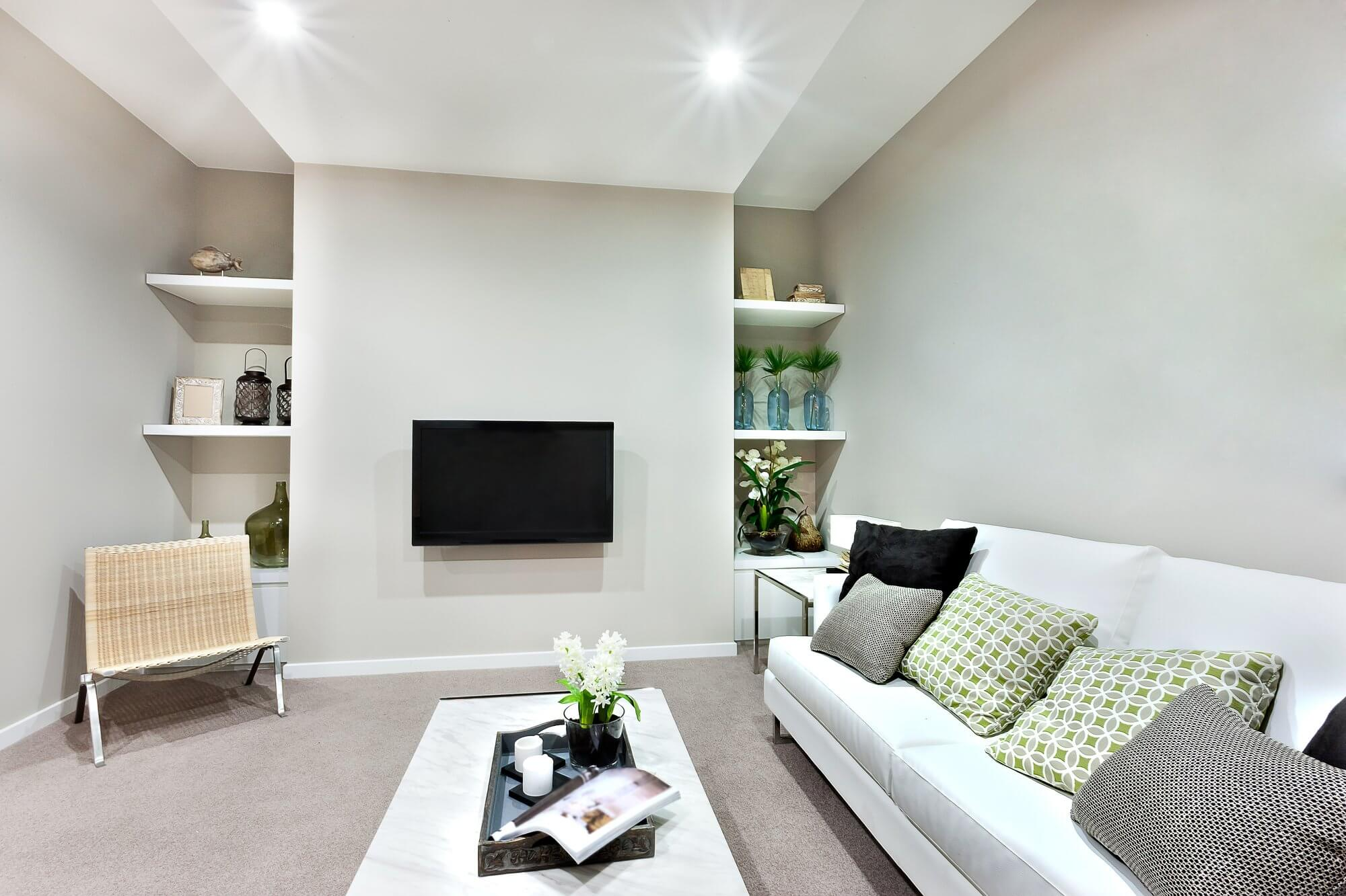 Living Room Without Window