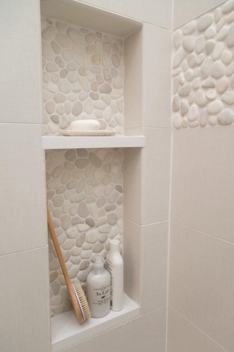 Beige Stone Tiles - Shower tile ideas