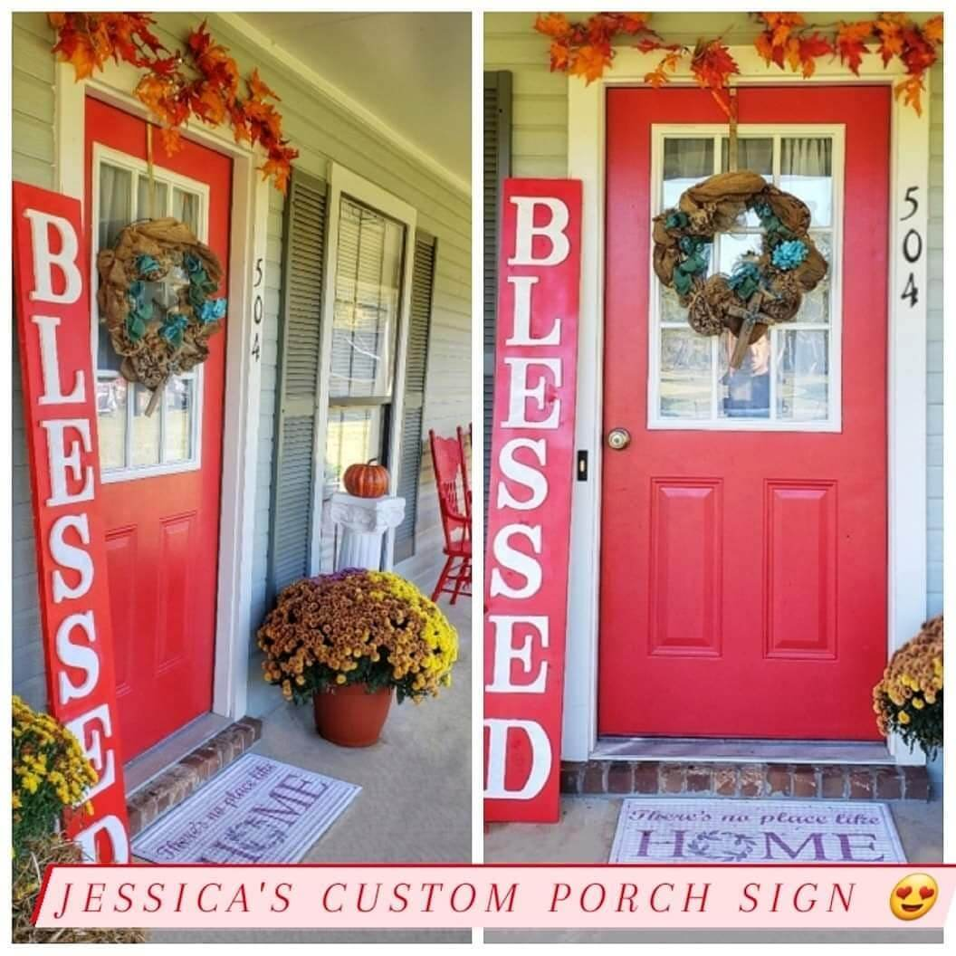 Red Front Porch Saying