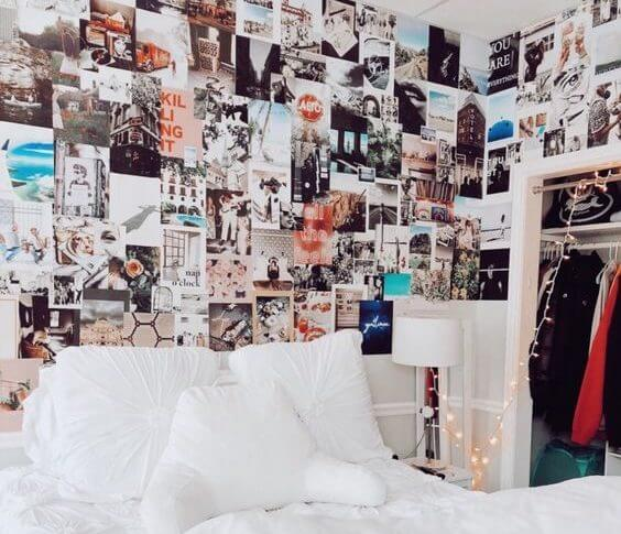 Trendy Wall Collages - aesthetic bedroom ideas